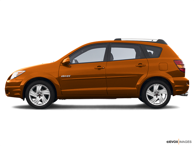 2005 Pontiac Vibe Base, Fusion Orange Metallic (Red & Orange), Front Wheel