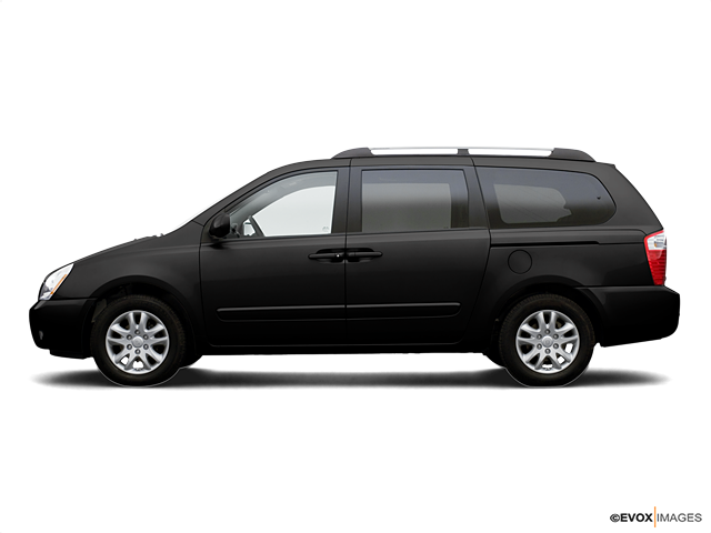 2006 Kia Sedona LX, Midnight Black (Black), Front Wheel