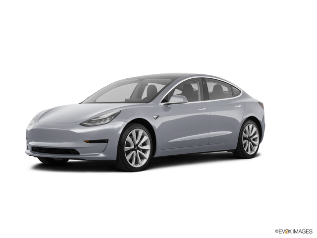 2018 Tesla Model 3 Long Range, Silver Metallic (Silver), Rear Wheel