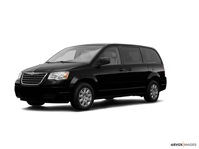 2008 Chrysler Town and Country Touring, Brilliant Black Crystal Pearl (Black), Front Wheel
