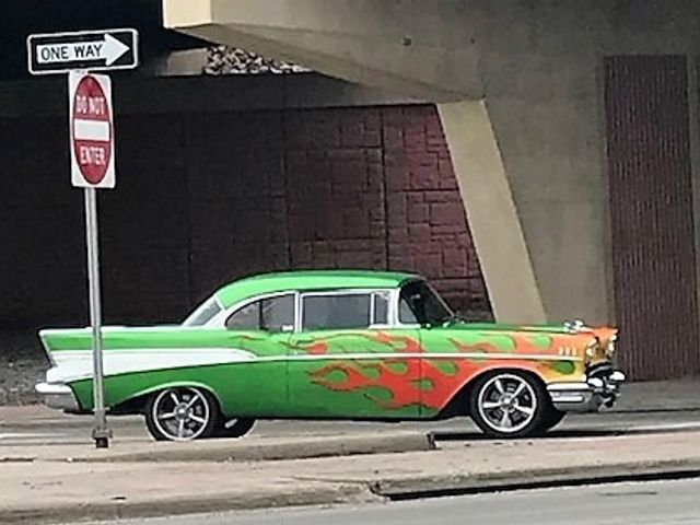 Hot Green 57 Chevy