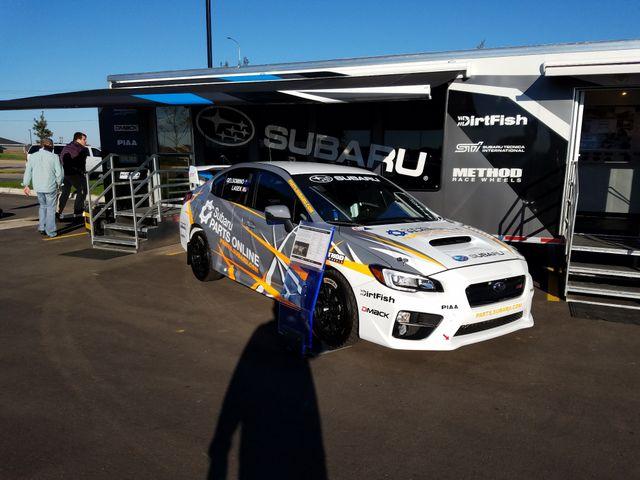 Subie race cars at SF Subaru grand opening