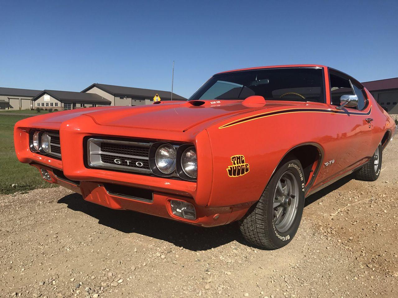 1969 Pontiac GTO Judge   Sioux Falls, SD, Orange, Rear Wheel