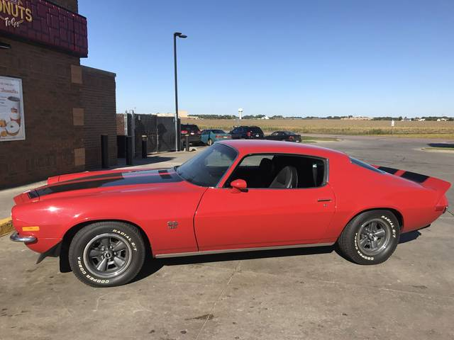 1971 Chevrolet Camaro RS-SS, Red & Orange, Rear Wheel