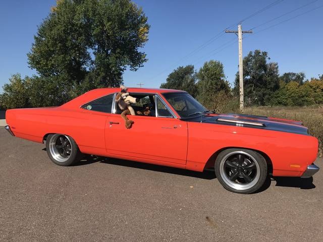1969 Plymouth Roadrunner, Orange, Rear Wheel