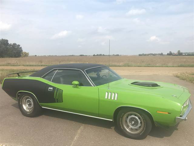 1970 Plymouth Barracuda Cuda, Green, Rear Wheel