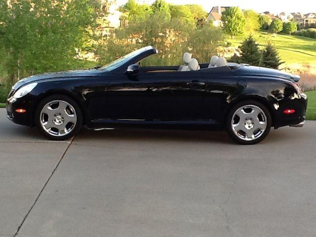 2002 Lexus SC 430 Base, Black Onyx (Black), Rear Wheel