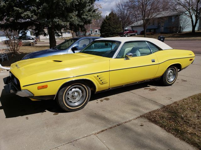 1973 Dodge Challenger, Yellow, Rear Wheel