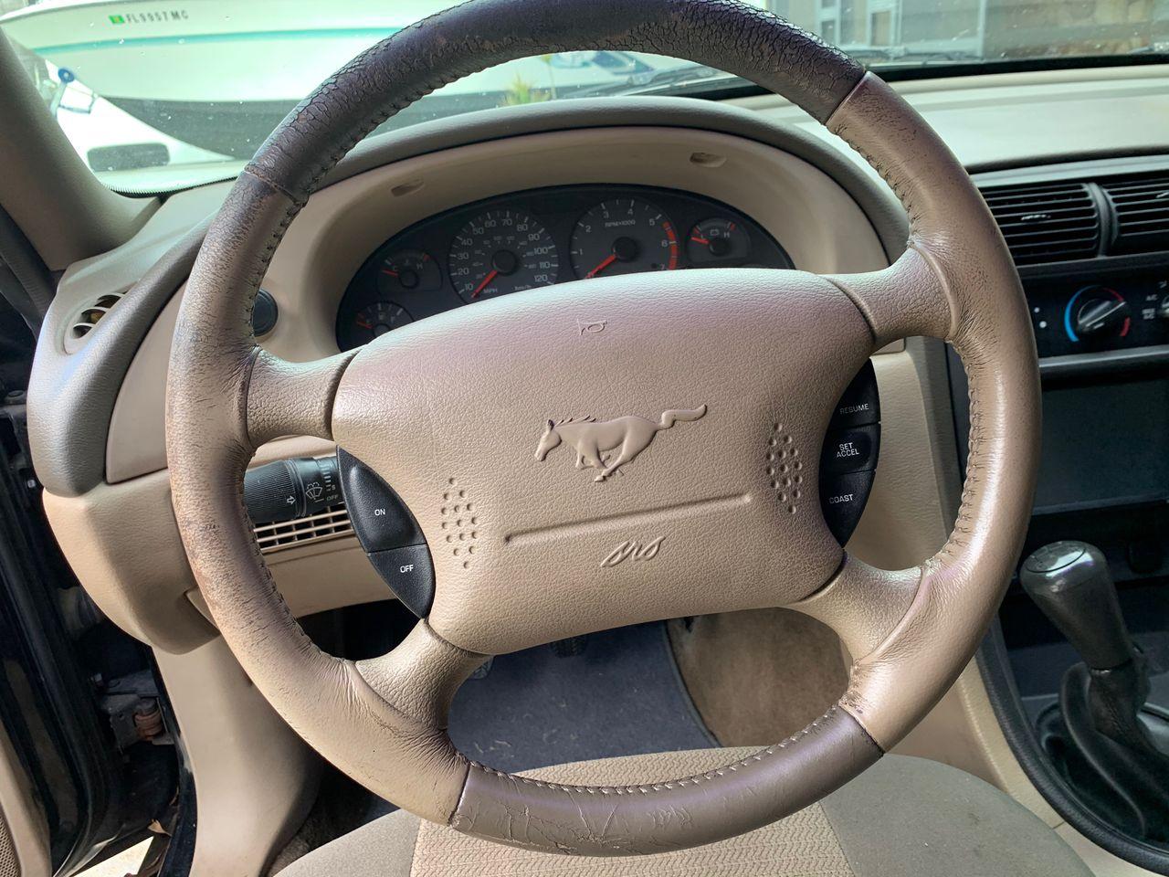 2002 Ford Mustang Base | Port Saint Lucie, FL, Black Clearcoat (Black), Rear Wheel