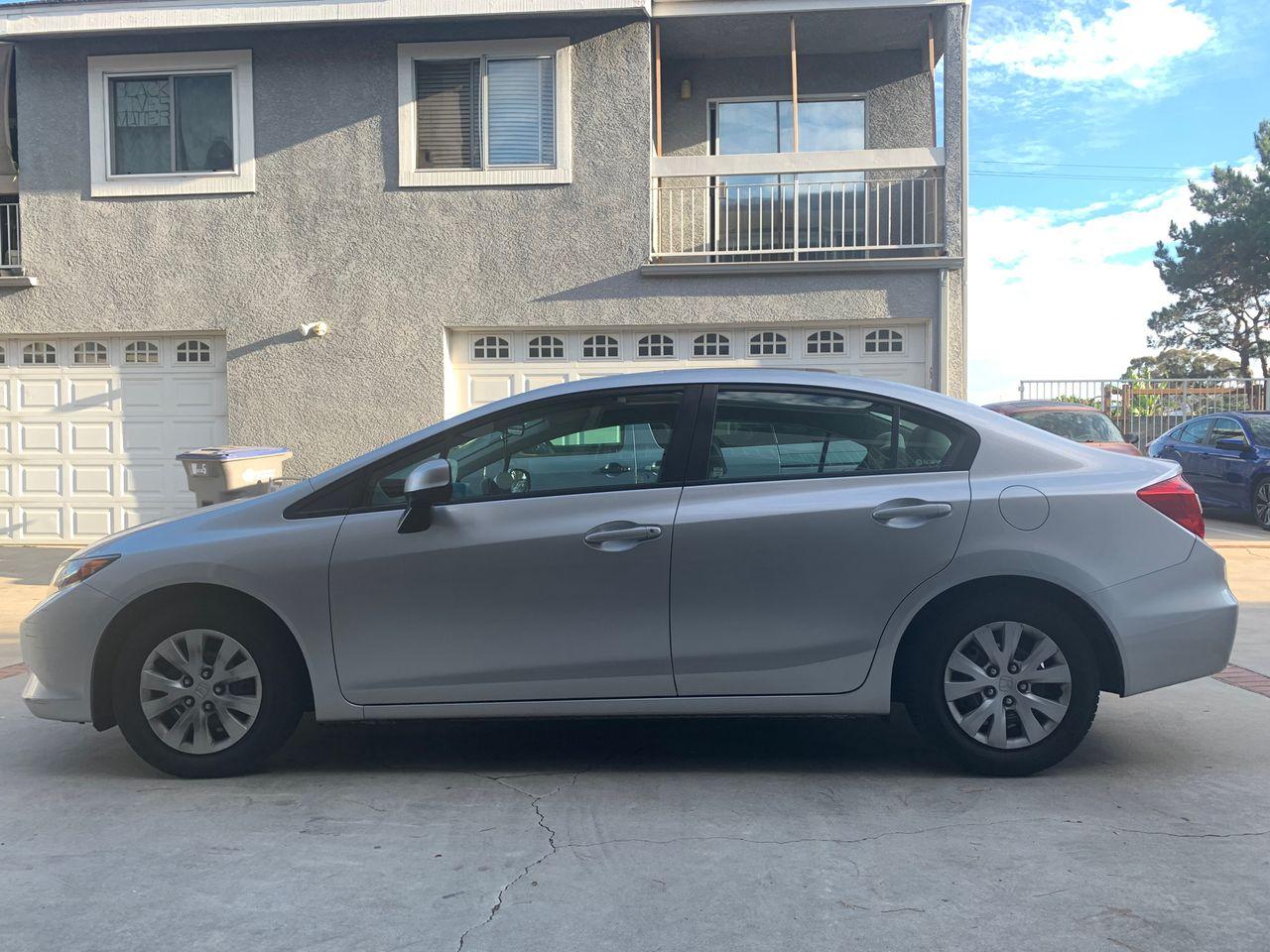 2012 Honda Civic LX | Carson, CA, Urban Titanium Metallic (Gray), Front Wheel