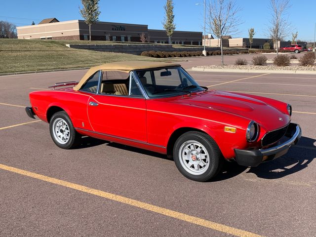 1982 FIAT 2000 Spider, Red & Orange, Rear Wheel