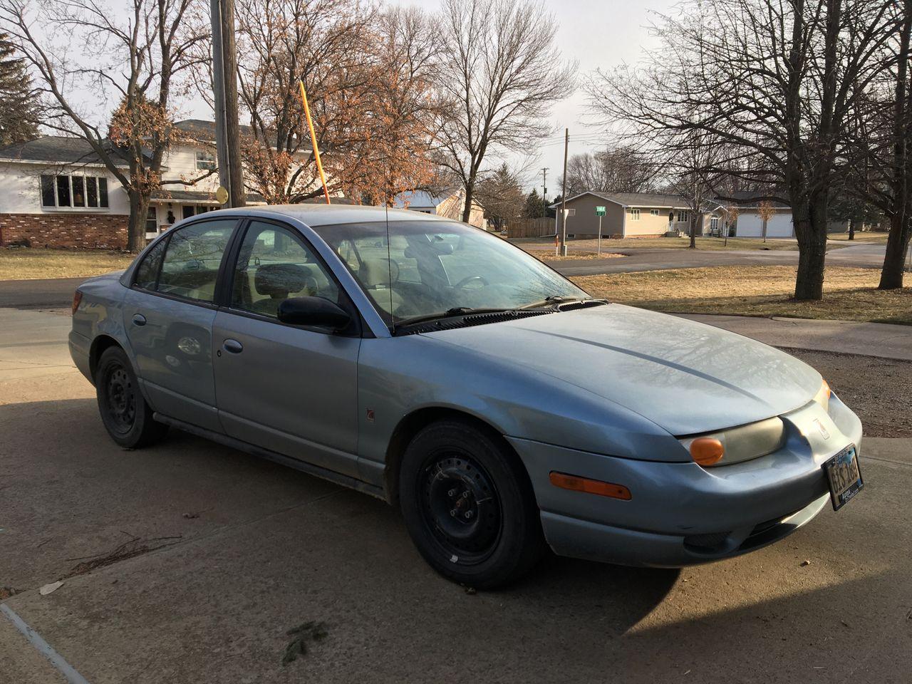 2002 Saturn S-Series SL2 | Marion, SD, Blue (Blue), Front Wheel