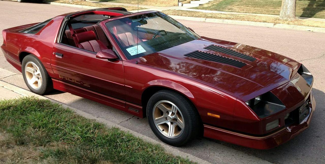 1989 Chevrolet Camaro IROC Z | Brandon, SD, Red & Orange, Rear Wheel