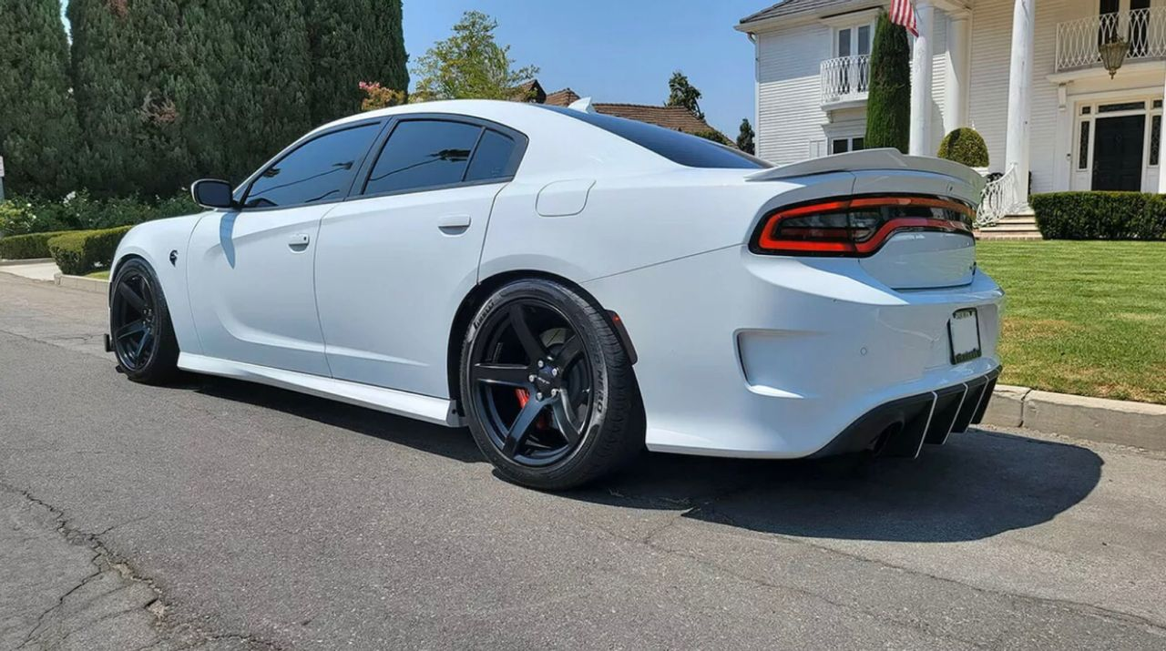 2019 Dodge Charger SRT Hellcat   Los Angeles, CA, White Knuckle Clear Coat (White), Rear Wheel