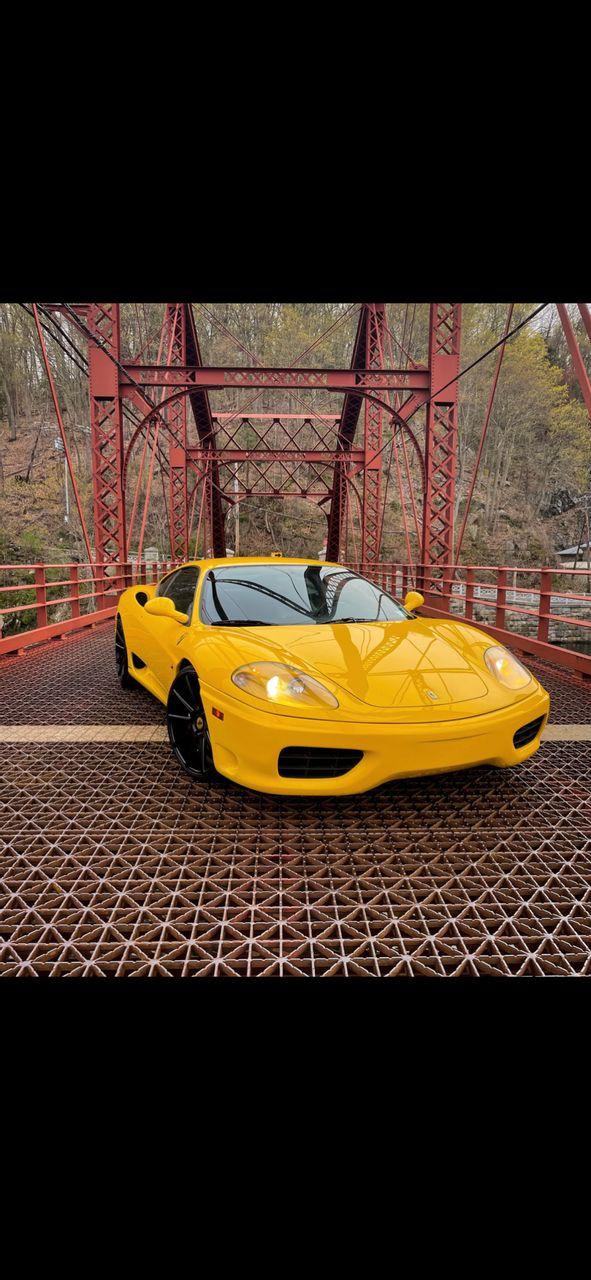2002 Ferrari 360 Modena Base   Cortlandt Manor, NY, Giallo Modena (Yellow), Rear Wheel