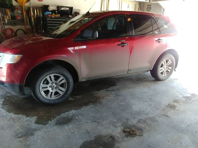 2008 Ford Edge SE, Redfire Clearcoat Metallic (Red & Orange), Front Wheel